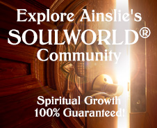 brown door, indicating spiritual growth by exploring Ainslie's SoulWorld Community
