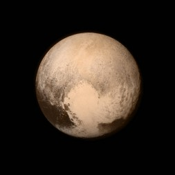 fly-by pictures of Pluto from the NASA New Horizons Spacecraft