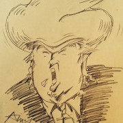 cartoon Donald Trump for president, insane by any definition