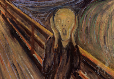 painting, ghost on bridge, scared, Panic Attacks