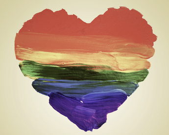 rainbow heart symbolizing love in response to the recent orlando shooting