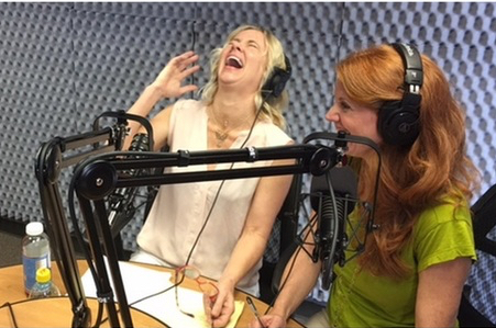 two women on a radio show, Past Life Healing Cures Lifelong Stutter