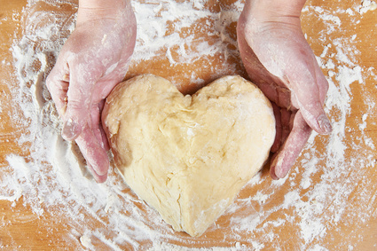 dough shaped like a heart, hold by hands, Past Life Talents