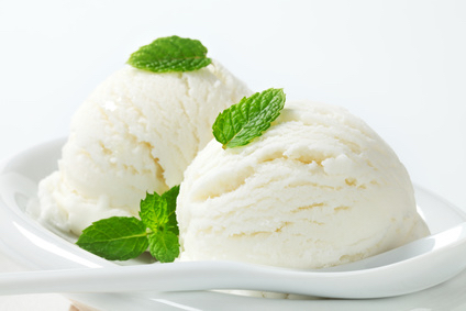 lemon ice cream with mint leaves, the ego has landed
